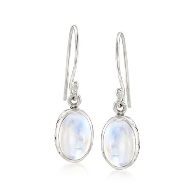 Moonstone Drop Earrings in Sterling Silver , , default