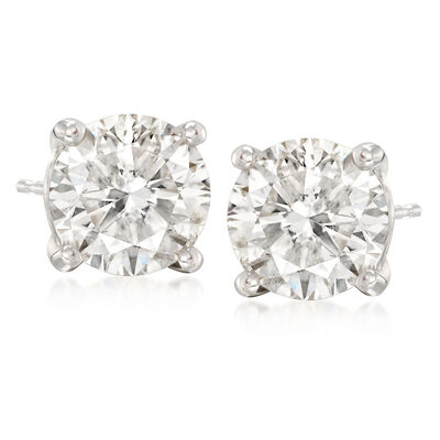 7.00 ct. t.w. CZ Stud Earrings in 14kt White Gold