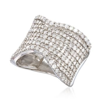 2.00 ct. t.w. Pave Diamond Curved Ring in Sterling Silver, , default
