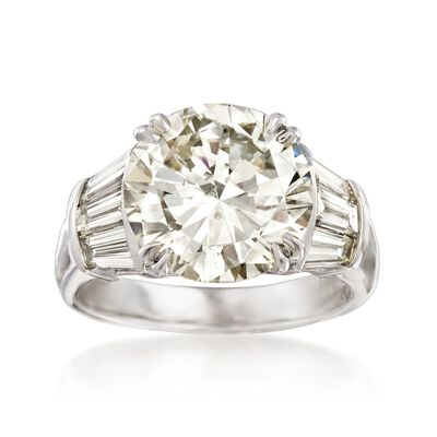 Majestic Collection 6.73 ct. t.w. Diamond Ring in 18kt White Gold