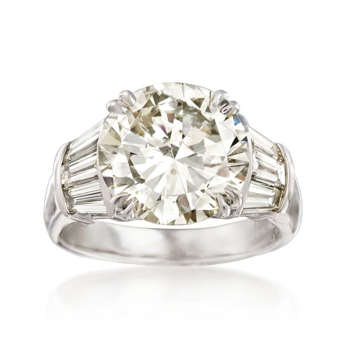 Majestic Collection 6.73 ct. t.w. Diamond Ring in 18kt White Gold. Size 7