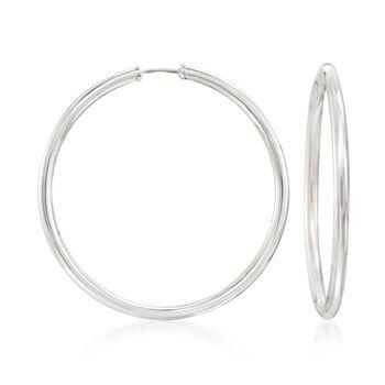 """Sterling Silver Large Endless Hoop Earrings. 1 7/8"""", , default"""