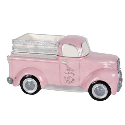 "Fitz and Floyd ""Branch and Blossom"" Pink Truck Cookie Jar"