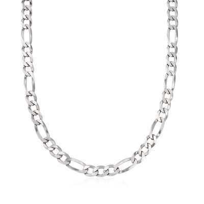 Men's 7.8mm Sterling Silver Figaro Link Necklace, , default