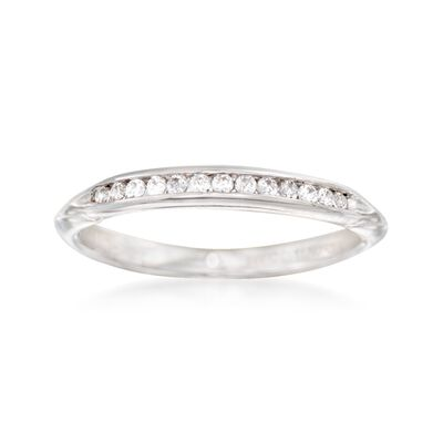 Gabriel Designs .13 ct. t.w. Diamond Wedding Ring in 14kt White Gold