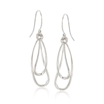 """Zina Sterling Silver """"Classic Zina"""" Wire Drip Drop Earrings, , default"""