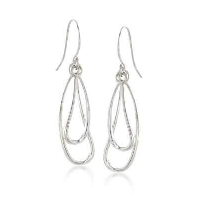 "Zina Sterling Silver ""Classic Zina"" Wire Drip Drop Earrings, , default"