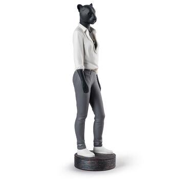 "Lladro ""Panther Woman"" Porcelain Figurine, , default"
