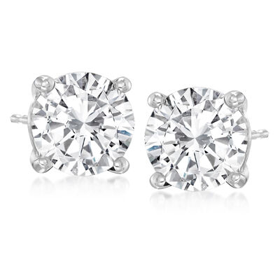 4.75 ct. t.w. Diamond Stud Earrings in 14kt White Gold