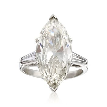 Majestic Collection 5.89 ct. t.w. Diamond Marquise Ring in Platinum, , default
