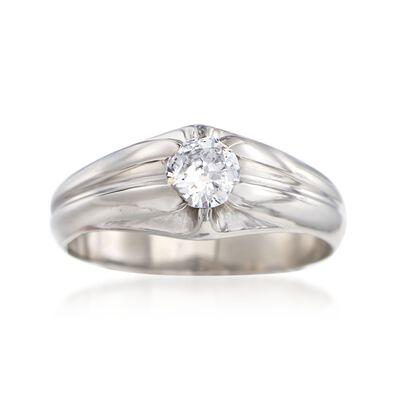 C. 1960 Vintage .50 Carat Diamond Ring in Palladium, , default