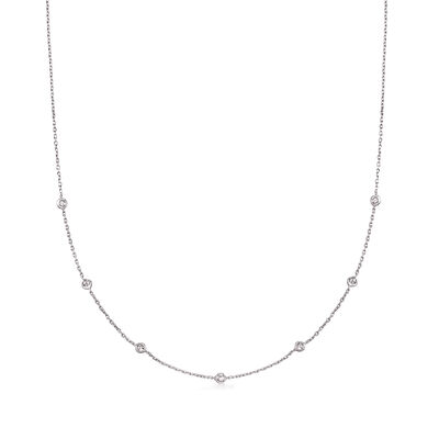 .20 ct. t.w. Diamond Station Necklace in Sterling Silver