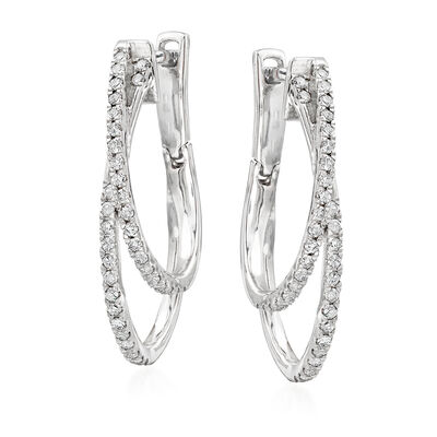 .50 ct. t.w. Diamond Double-Hoop Earrings in Sterling Silver