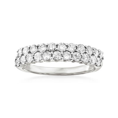1.00 ct. t.w. Diamond Double-Row Ring in 14kt White Gold