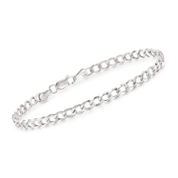 "Men's 5.2mm Sterling Silver Curb-Link Bracelet. 8.5"", , default"