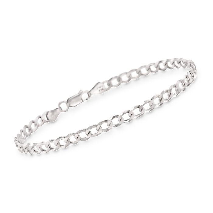"""Men's 5.2mm Sterling Silver Curb-Link Bracelet. 8.5"""", , default"""