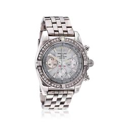 Breitling Chronomat 44 Men's Auto Chronograph Diamond Watch in Stainless Steel, , default