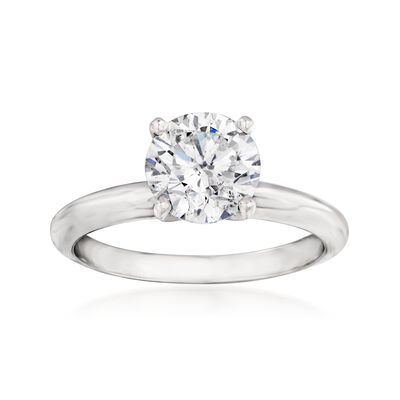 1.64 Carat Certified Diamond Engagement Ring in 14kt White Gold