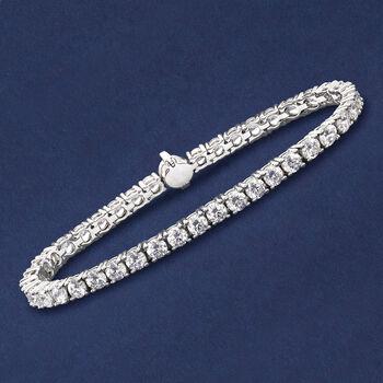 9.00 ct. t.w. CZ Tennis Bracelet in Sterling Silver