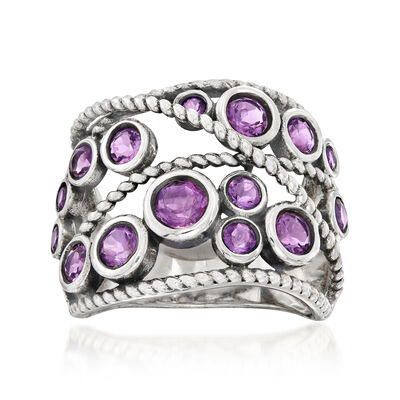 1.20 ct. t.w. Amethyst Ring in Sterling Silver, , default