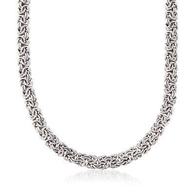 Sterling Silver Classic Byzantine Necklace, , default