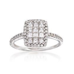 Gregg Ruth .93 ct. t.w. Diamond Ring in 18kt White Gold, , default