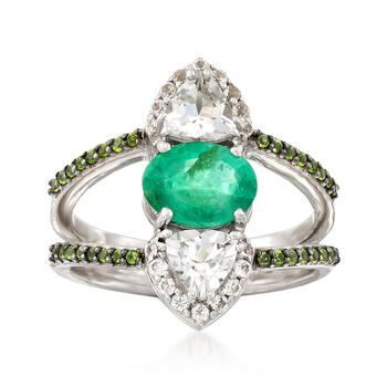 1.90 ct. t.w. Multi-Stone Ring in Sterling Silver, , default