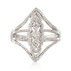 .38 ct. t.w. Diamond Openwork Ring in Sterling Silver, , default