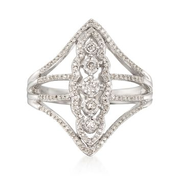 .38 ct. t.w. Diamond Illusion Openwork Ring in Sterling Silver, , default