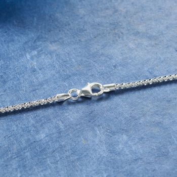 Italian 2mm Sterling Silver Crisscross Chain Necklace, , default