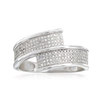 .25 ct. t.w. Diamond Bypass Ring in 14kt White Gold , , default