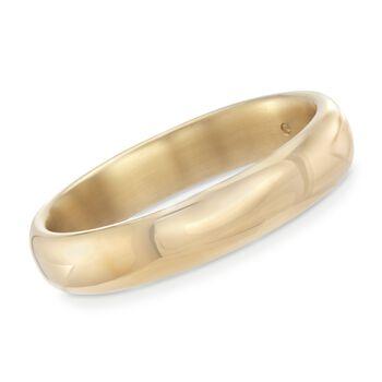 "Andiamo 14kt Yellow Gold Wide Bangle Bracelet. 7.5"", , default"
