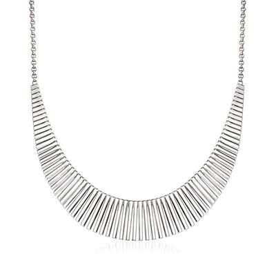 """Charles Garnier """"Cleopatra"""" Sterling Silver Large Bib Necklace, , default"""