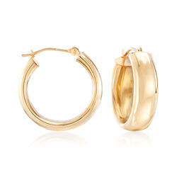 "14kt Yellow Gold Classic Hoop Earrings. 3/4"", , default"