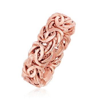 14kt Rose Gold Byzantine Ring, , default