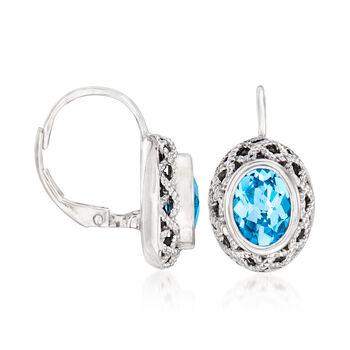 """Andrea Candela """"Rioja"""" 3.30 ct. t.w. Blue Topaz Drop Earrings in Sterling Silver, , default"""