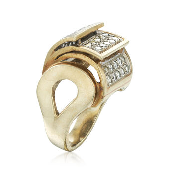 C. 1980 Vintage 1.00 ct. t.w. Diamond Layered-Style Ring in 14kt Yellow Gold. Size 6, , default