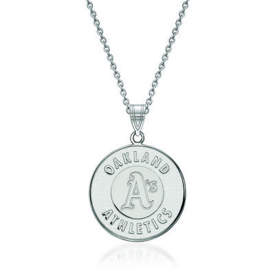 Sterling Silver MLB Oakland Athletics Pendant Necklace. 18""