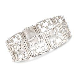 """Zina Sterling Silver """"Casablanca"""" Link Bracelet. 7.5"""", , default"""
