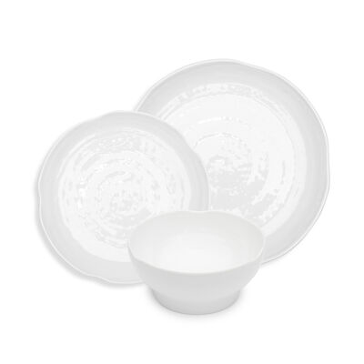 Pearl White Melamine Dinnerware