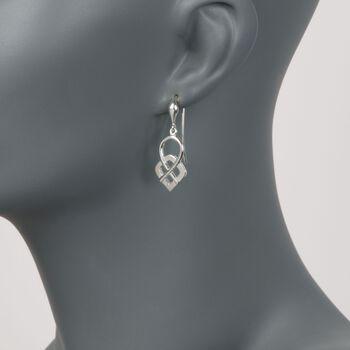 Zina Sterling Silver Infinity Loop Drop Earrings , , default