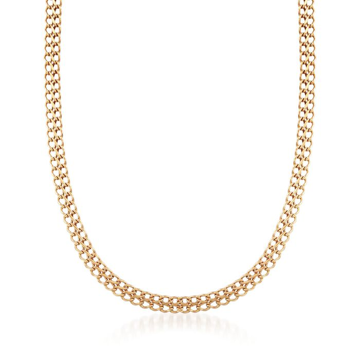 Italian 18kt Yellow Gold Infinity-Link Necklace
