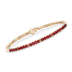 2.40 ct. t.w. Ruby Bar Link Bracelet in 14kt Yellow Gold, , default