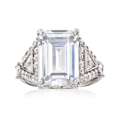 8.50 ct. t.w. CZ Ring in Sterling Silver