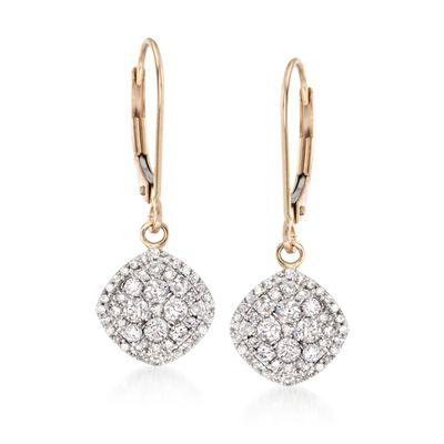.75 ct. t.w. Diamond Drop Earrings in 14kt Yellow Gold, , default
