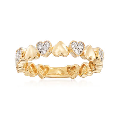 .26 ct. t.w. Diamond Heart Ring in 14kt Yellow Gold, , default