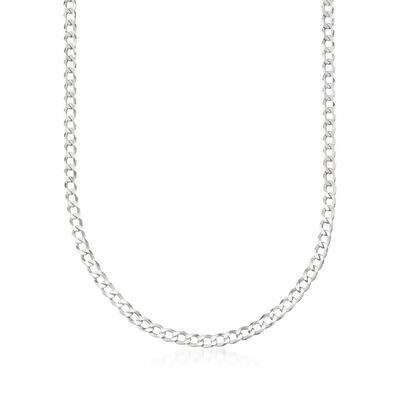 Men's 5mm Sterling Silver Curb-Link Chain Necklace, , default