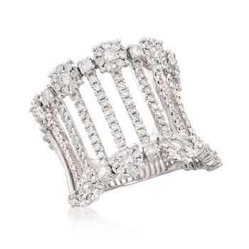 2.00 ct. t.w. Diamond Bar Ring in 14kt White Gold, , default