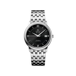 Omega De Ville Prestige Men's 36.8mm Stainless Steel Watch With Black Dial , , default