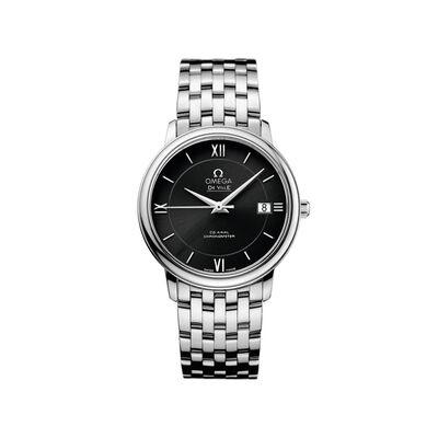 Omega De Ville Prestige Men's 36.8mm Stainless Steel Watch with Black Dial, , default